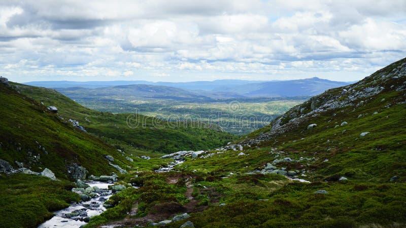 在山的美好的横向 免版税库存照片