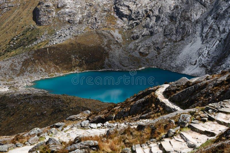 在山脉Blanca的秘鲁,圣克鲁斯牛拉车旅行 库存图片