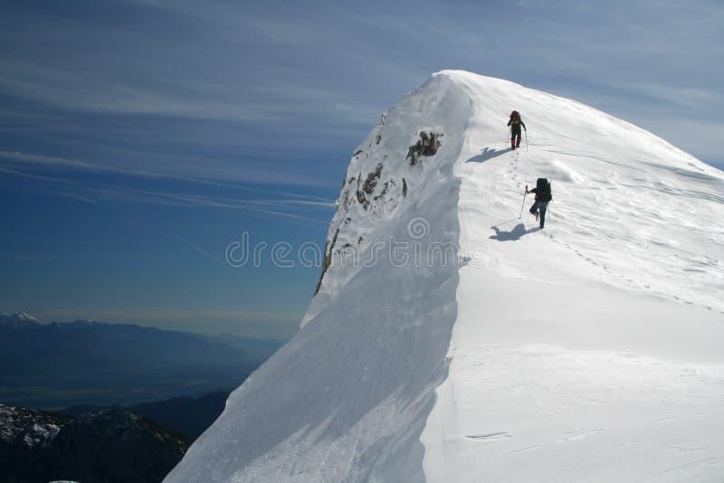 在山顶附近 库存图片