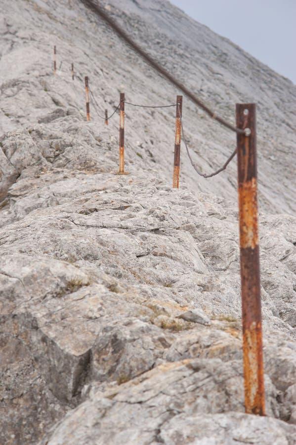 在山Pirin的Koncheto峰顶 库存照片