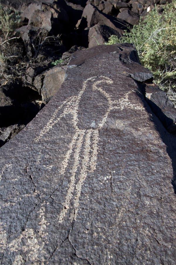 刻在岩石上的文字国家历史文物 免版税库存照片