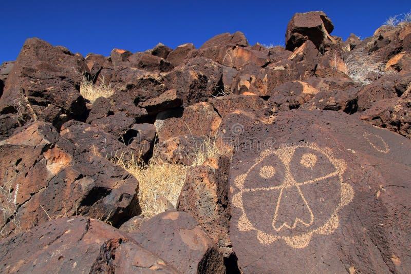 刻在岩石上的文字国家历史文物 免版税库存图片