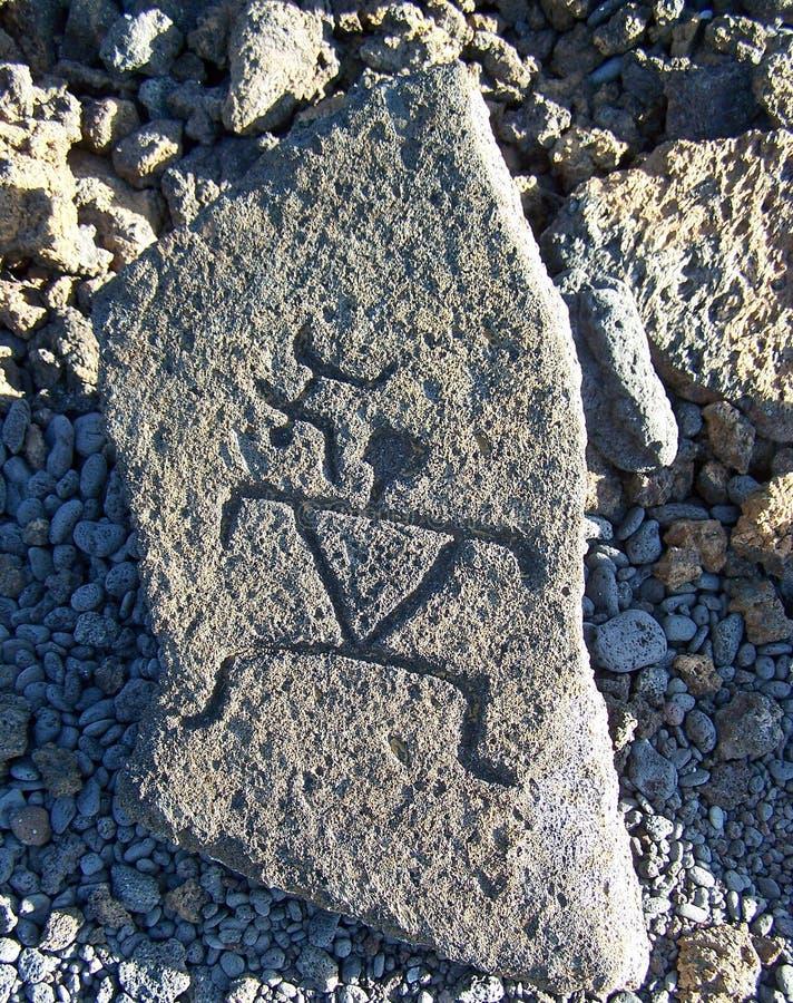 刻在岩石上的文字 免版税库存照片