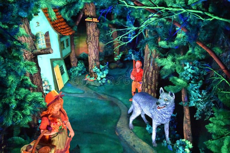 在岩石城市庭院的仙境洞穴在加得奴加,田纳西 库存照片