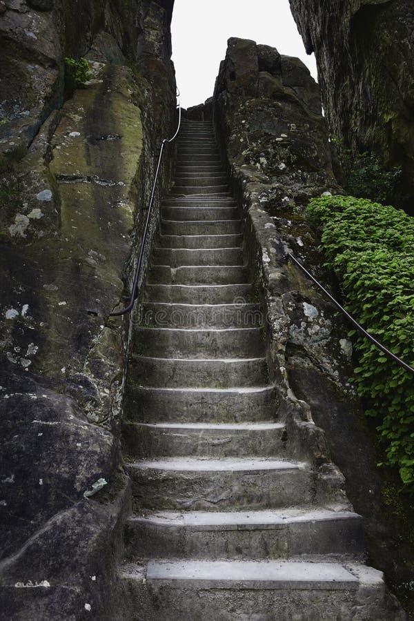 在岩石德国的历史的楼梯 库存照片