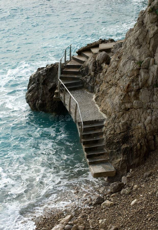 在岩石楼梯 免版税库存照片