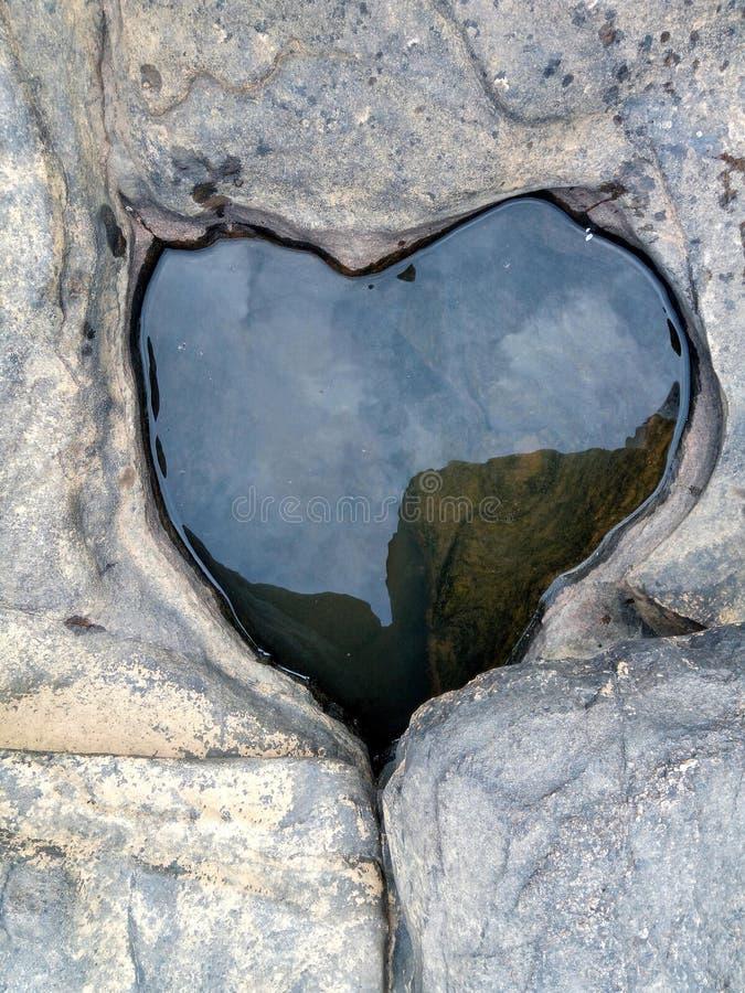 在岩石的心脏 库存照片