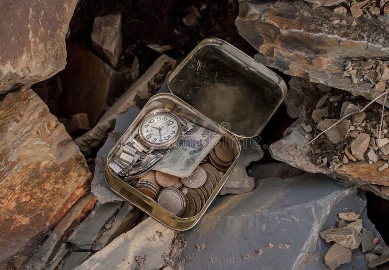 在岩石的珍宝 库存图片