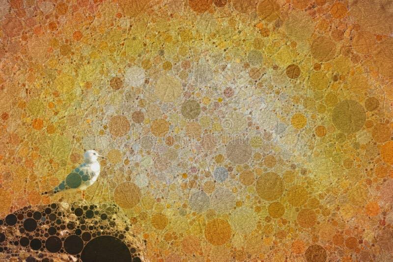 在岩石背景的抽象海鸥 皇族释放例证