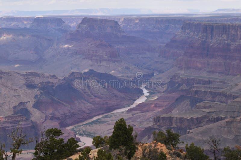 在峡谷的天高涨 库存照片