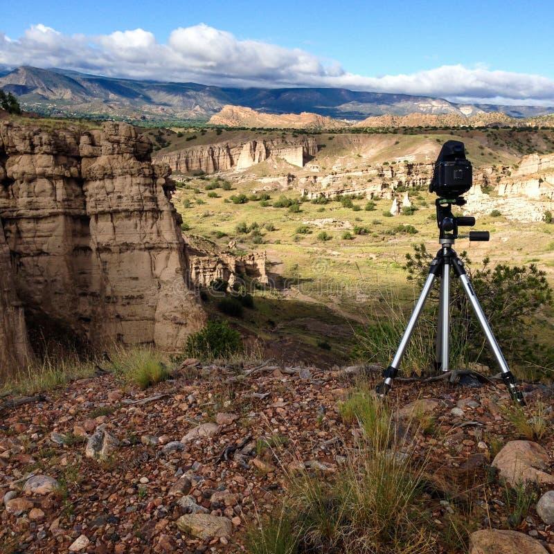 在峡谷的照相机 免版税库存照片
