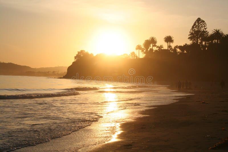 在Montecito的日落 免版税库存图片