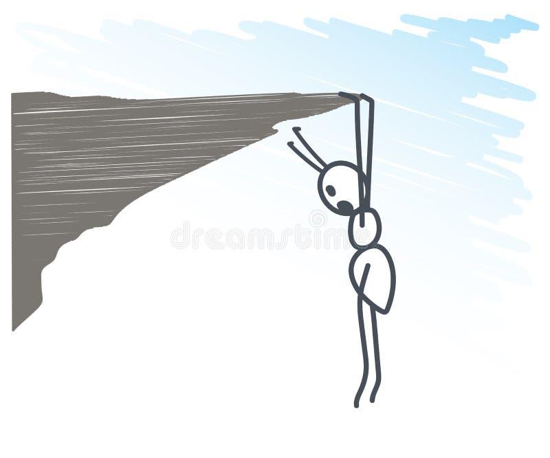在峭壁的蚂蚁 库存例证
