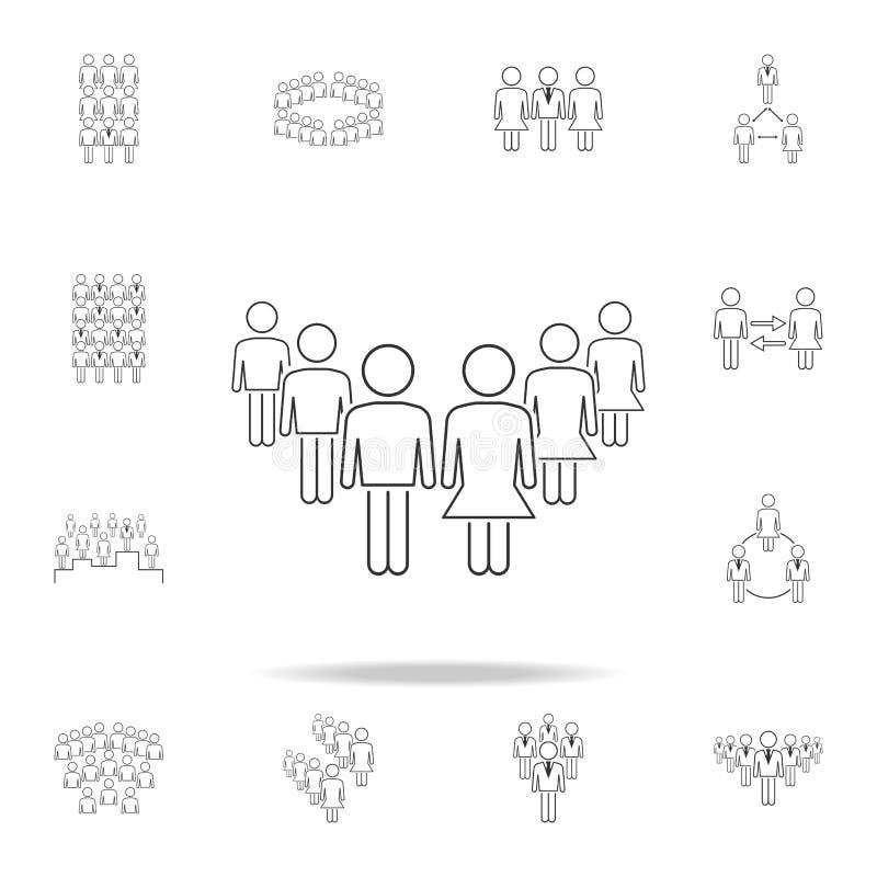 在工作象的男女平等 详细的套工作象的人 优质图形设计 其中一个汇集象为 向量例证