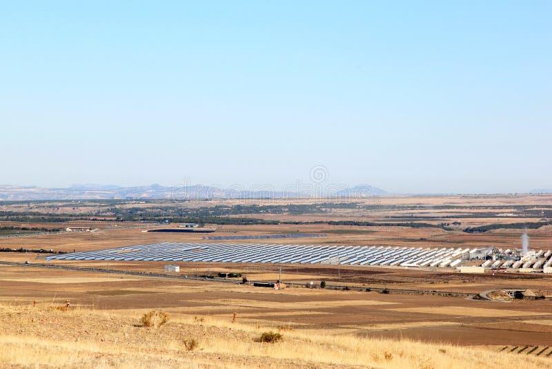 在工厂次幂太阳西班牙附近的安大路西亚guadix 图库摄影