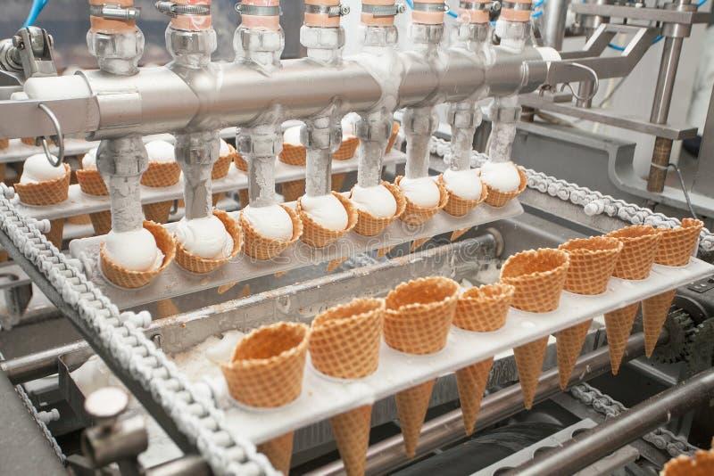 在工厂的冰淇凌 免版税图库摄影