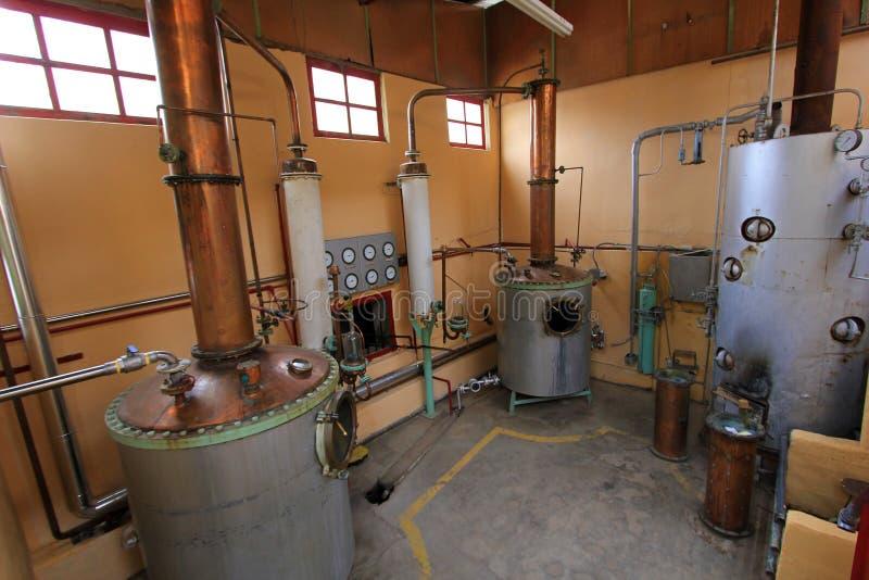 在工厂, Elqui谷,智利的Pisco生产 免版税图库摄影