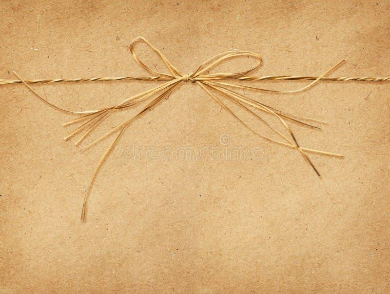 在工艺纸栓的酒椰弓 库存图片