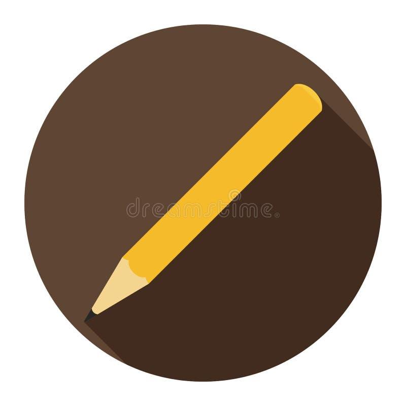 在巧克力背景的铅笔平的象任何场合的 库存例证