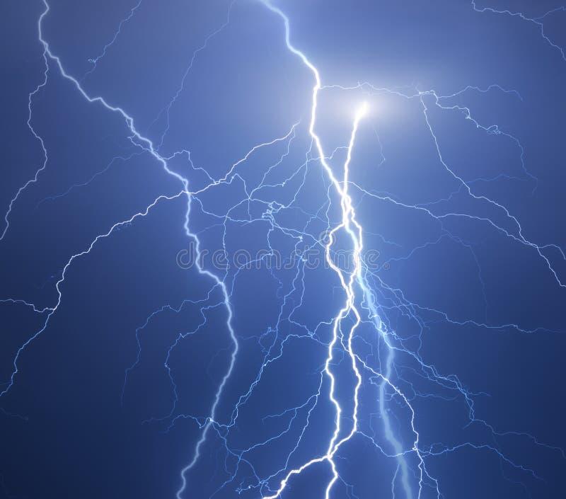 雷和闪电 库存照片