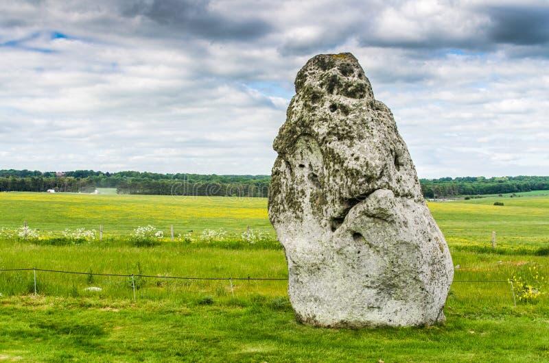 在巨石阵的脚跟石头 免版税库存照片