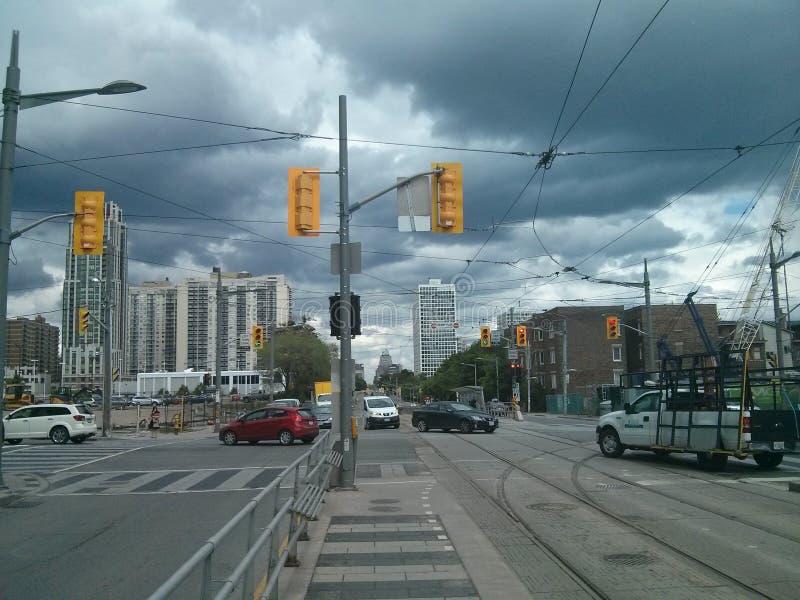 在巴佛士街的St ClIaire一点在多伦多,安大略,加拿大 ??2016? 免版税库存照片