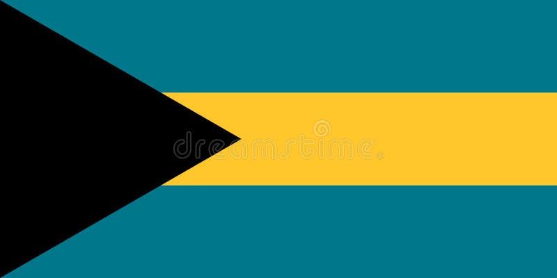 在巴哈马的颜色的旗子,传染媒介图象 库存例证