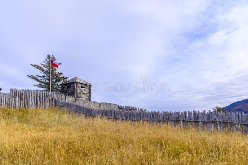 在巴塔哥尼亚的Bulnes堡垒 免版税库存图片