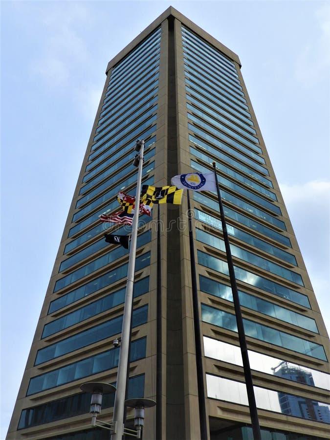 在巴尔的摩MD的香港世界贸易中心 库存图片