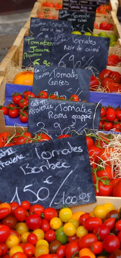 在市场上的蕃茄 库存图片