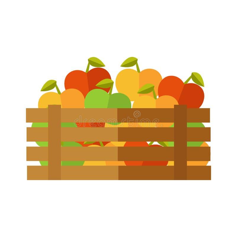 在市场传染媒介例证的新鲜的苹果 向量例证
