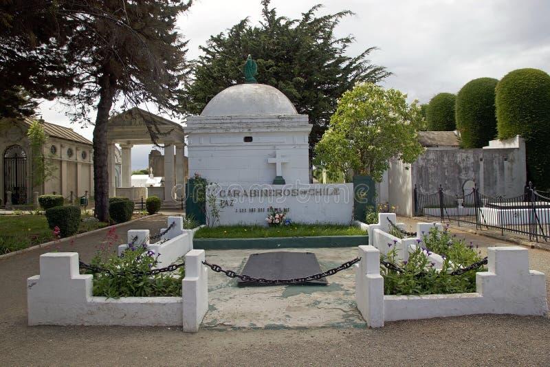 在市政公墓的古墓在蓬塔阿雷纳斯,智利 库存照片