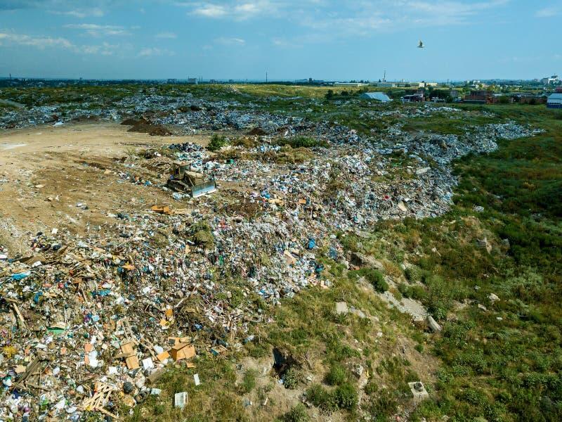 在市政垃圾填埋城市转储 库存图片