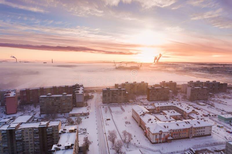 在市的日出加里宁格勒 库存照片