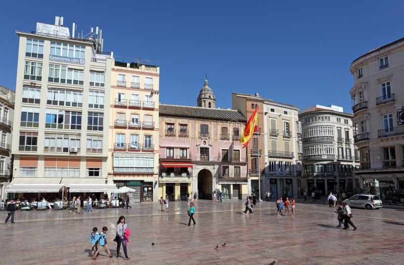 在市马拉加摆正,西班牙 库存图片
