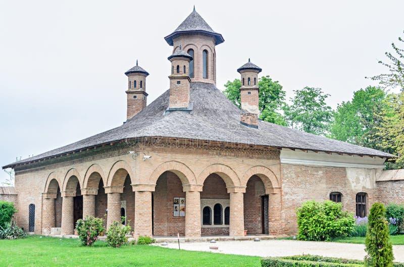 在布加勒斯特,罗马尼亚,外部细节附近的宫殿Mogosoaia 修造Constantin Brancoveanu 免版税库存照片