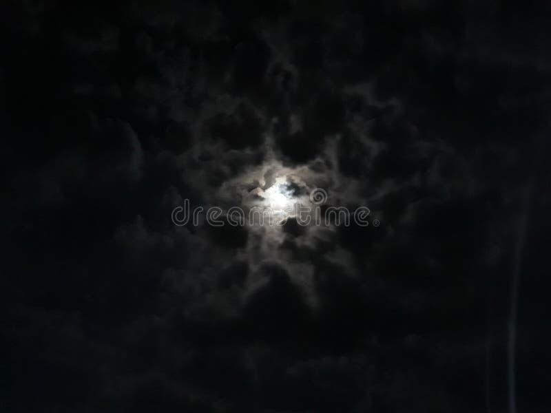 在布德瓦的夜空 免版税库存照片