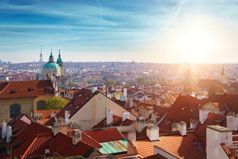在布拉格市的看法 免版税库存图片