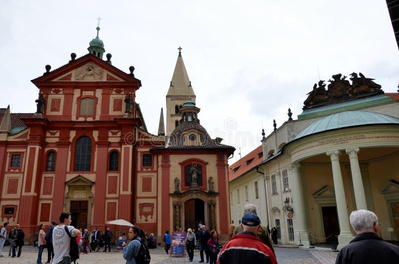 在布拉格里面城堡的大厦  库存照片