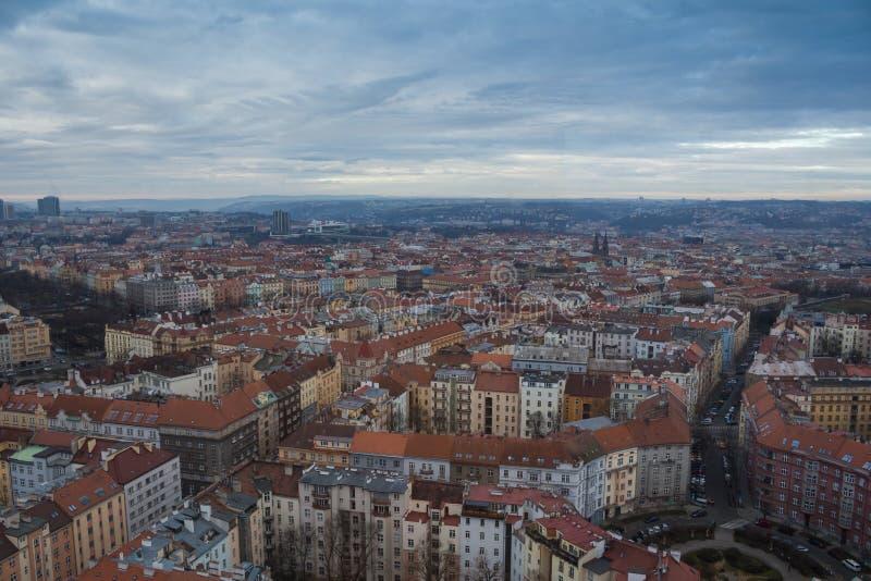 在布拉格,捷克共和国的Skyview 库存图片