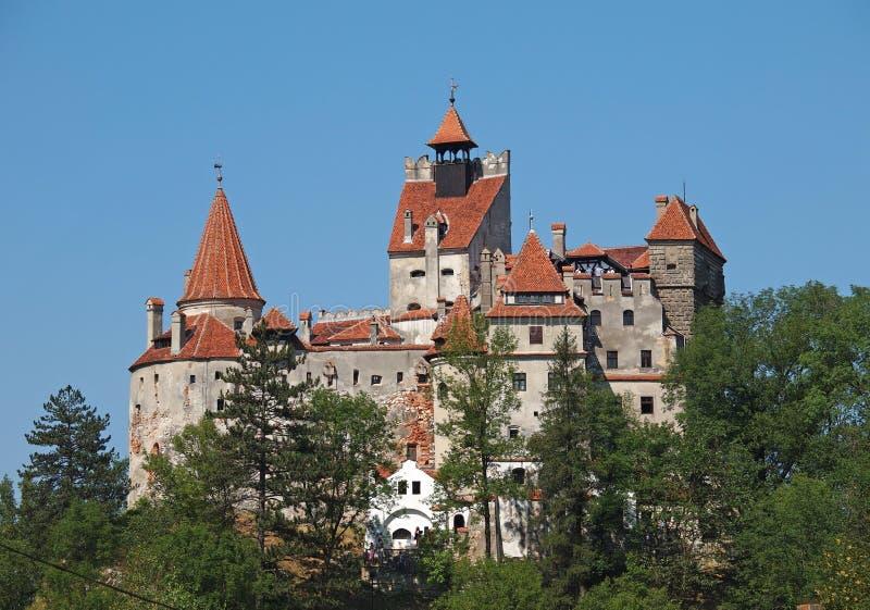 在布拉索夫,罗马尼亚附近的麸皮城堡 免版税库存照片