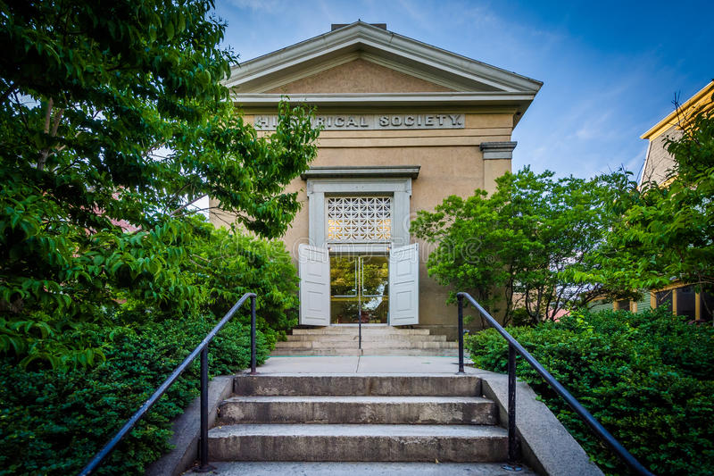 在布朗大学校园里的Mencoff霍尔,在上帝, 免版税库存照片