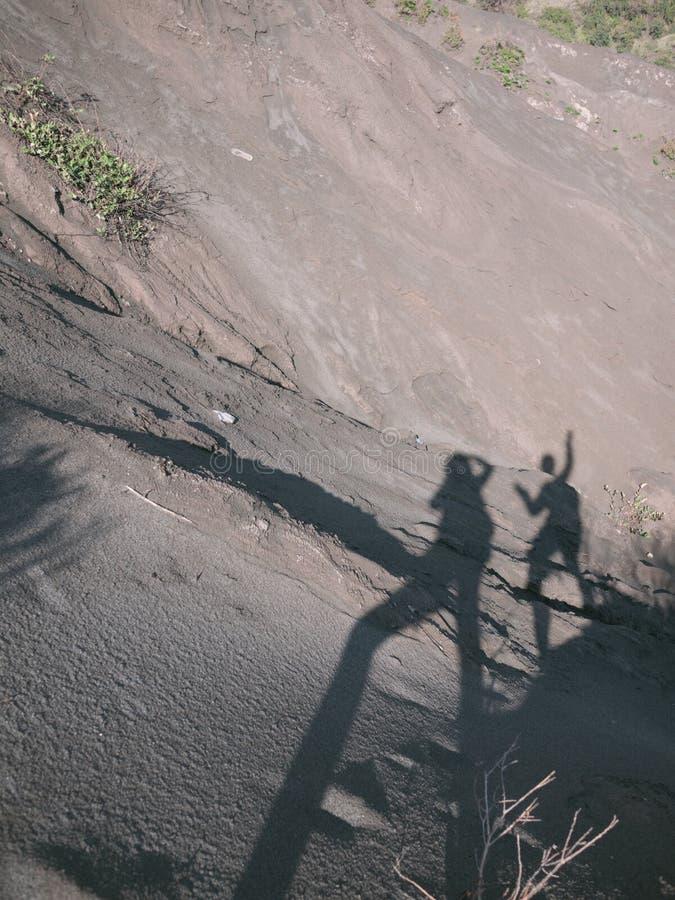 在布罗莫火山山的美丽的景色 免版税图库摄影
