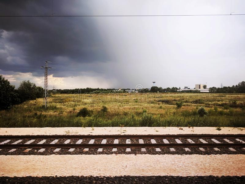 在布达佩斯市附近的一场小的风暴以后 库存图片