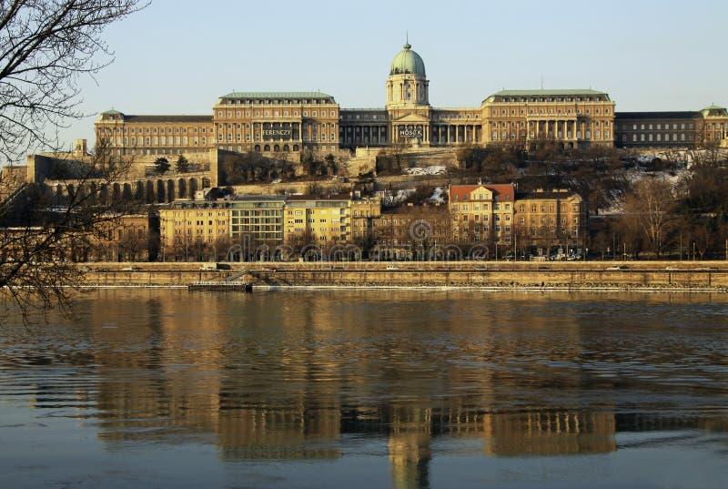在布达佩斯,匈牙利Buda城堡的看法  库存图片