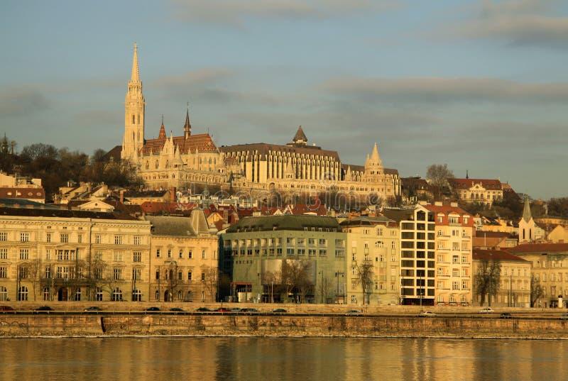 在布达佩斯,匈牙利Buda银行的看法  免版税库存图片