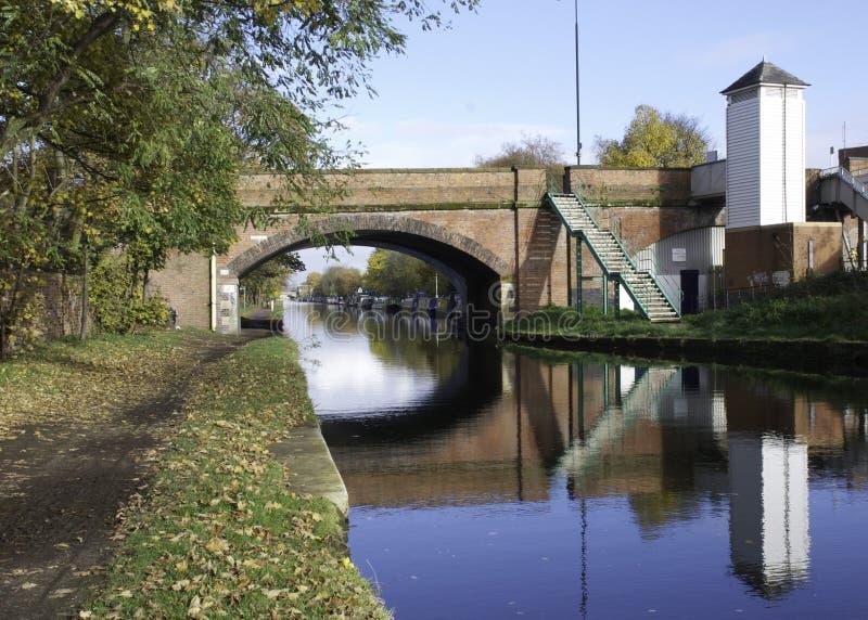 在布里奇沃特运河的桥梁 免版税图库摄影