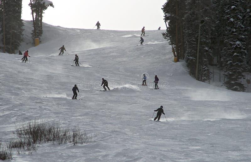 在布雷肯里奇滑雪场的中间季节滑雪 图库摄影