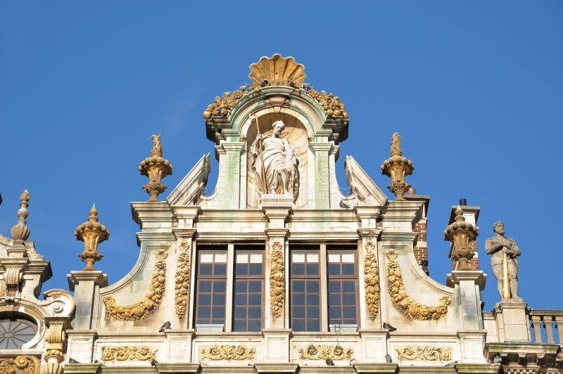 在布鲁塞尔大广场的市政厅在布鲁塞尔 免版税库存图片