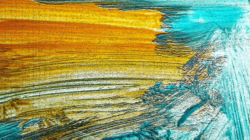 在帆布的丙烯酸酯的绘的冲程 现代的艺术 厚实的油漆帆布 艺术品的片段 库存例证